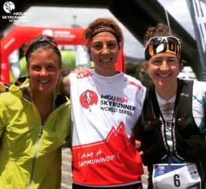 Podio de la Ultra de Madeira. Emilie Fosberg (Segunda posición), Ragna Debats (primera posición), Núria Picas (primera posición)